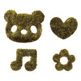 Kokosbrood uitstekerset - beer, hart, bloem en muzieknoot_