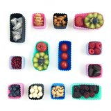 Bento cups vierkant - paars / lila_