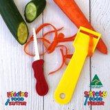 PRE-ORDER: Kindvriendelijk mes en schiller - roze | Kiddies foodkutter en peeler_