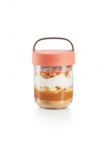 Food jar to go snacks - roze | Lekue_