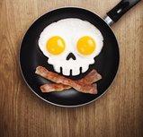 Pannenkoek en omeletvorm Skull