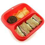 Small meal rood - 2 vaks lunchtrommel