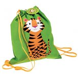 rugtasje / gymtasje - drawstring tijger