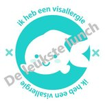 Allergie stickers | visallergie - set van 4 stickers