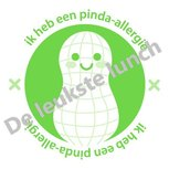 Allergie stickers | pinda-allergie - set van 4 stickers