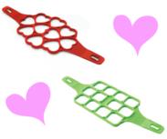 Voordeel set Pannenkoeken mal hart + vierkantjes