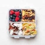 Snackbox / broodtrommel met 4 vakken 870 ml. | Lock&Lock