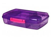 Trends bento lunchbox met boterhamlade - paars | Sistema