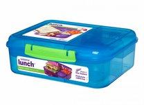 Bento lunchbox met yoghurtpotje 165 ml - blauw| Sistema