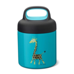 Thermo food jar turquoise giraf | Carl Oscar