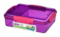 Lunchbox snack attack duo - paars | Sistema