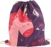 rugtasje / gymtasje - eenhoorn paars