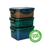 Set van 3 ECO snackdoosjes