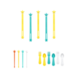 Productbundel: wrap bands + stix + fork&spoon set | Kleur geel