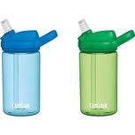 Camelbak drinkfles set van twee | groen en blauw