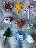 10 winter en kerst bento ringen en prikkers gevarieerd