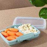 Snackdoos met twee compartimenten - mintgroen| Renewed
