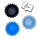 Lunch punch siliconen bento vormpjes - blauw