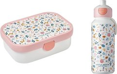 Lunchset Campus (pop-up drinkfles + lunchbox) - spring flowers
