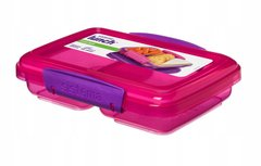 Sistema snackbox twee vakken - split uni roze