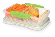 Sistema snackbox twee vakken - split dz groen
