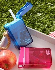 Set van 2 drink in the box - roze en blauw
