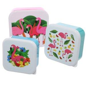 Snackboxset Flamingo's