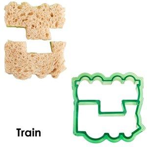 Boterham uitsteekvorm treinen
