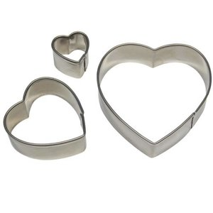Set van 3 hart uitstekers | PME