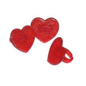 Glitter harten bento lunch ringen - 4 stuks