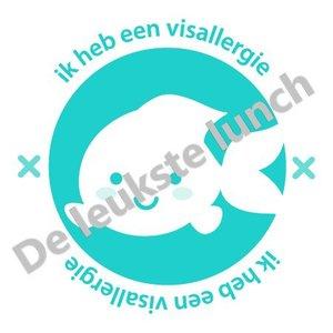 Allergie stickers | visallergie - set van 4 stickers