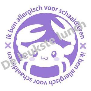 Allergie stickers | schaaldierenallergie - set van 4 stickers