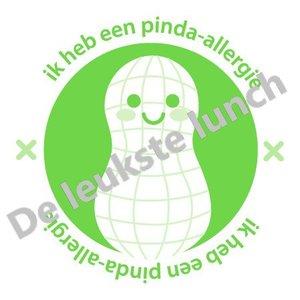Allergie stickers   pinda-allergie - set van 4 stickers