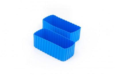 Bento cups rechthoek - blauw