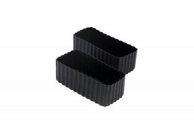Bento cups vierkant - zwart