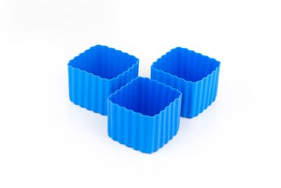 Bento cups vierkant - blauw