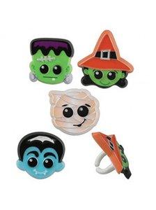 Halloween figuren assorti bento ringen - set van 4