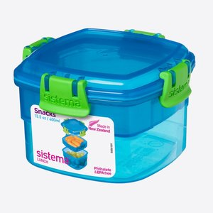Snackdoos blauw 400 ml.   Sistema