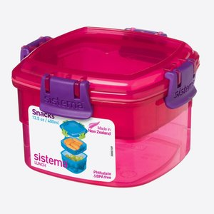 Snackdoos roze 400 ml. | Sistema