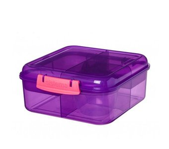 Bento to go cube lunchbox - paars | Sistema
