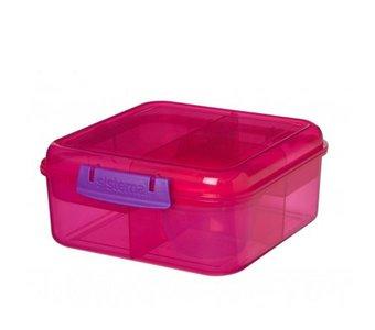 Bento to go cube lunchbox - roze | Sistema
