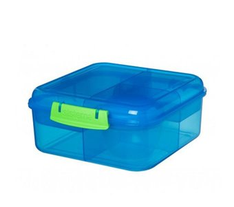 Bento to go cube lunchbox - blauw   Sistema