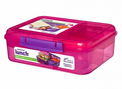 Bento lunchbox met yoghurtpotje 165 ml - roze | Sistema