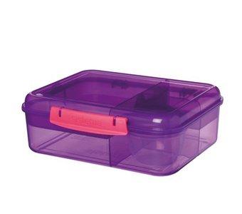 Bento lunchbox met yoghurtpotje 165 ml - paars | Sistema