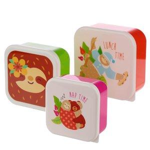 Snackboxset met luiaard - set van 3