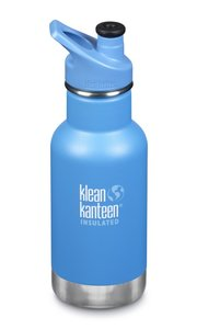 Insulated Klean Kid Kanteen draaidop RVS 355 ml. - Pool party blauw