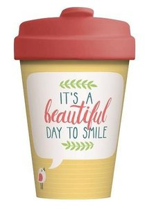 BambooCup bamboe koffie to go beker - Beatiful Smile
