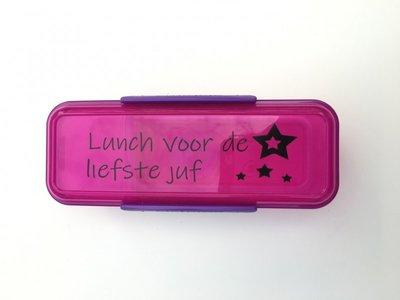 Sticker 'Lunch voor de liefste meester'