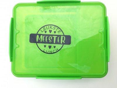 Sticker 'Leukste juffen lunch' - 8 cm.