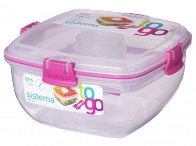 Salade lunchbox - roze | Sistema